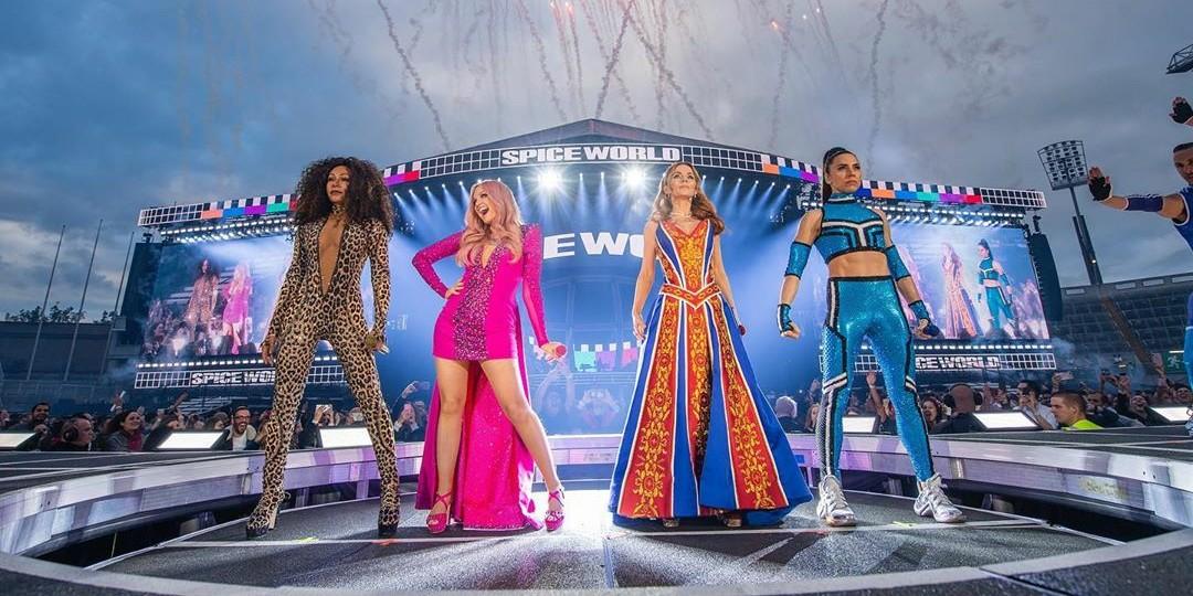 "Spice Girls: Confira o primeiro show da turnê ""Spice World"""