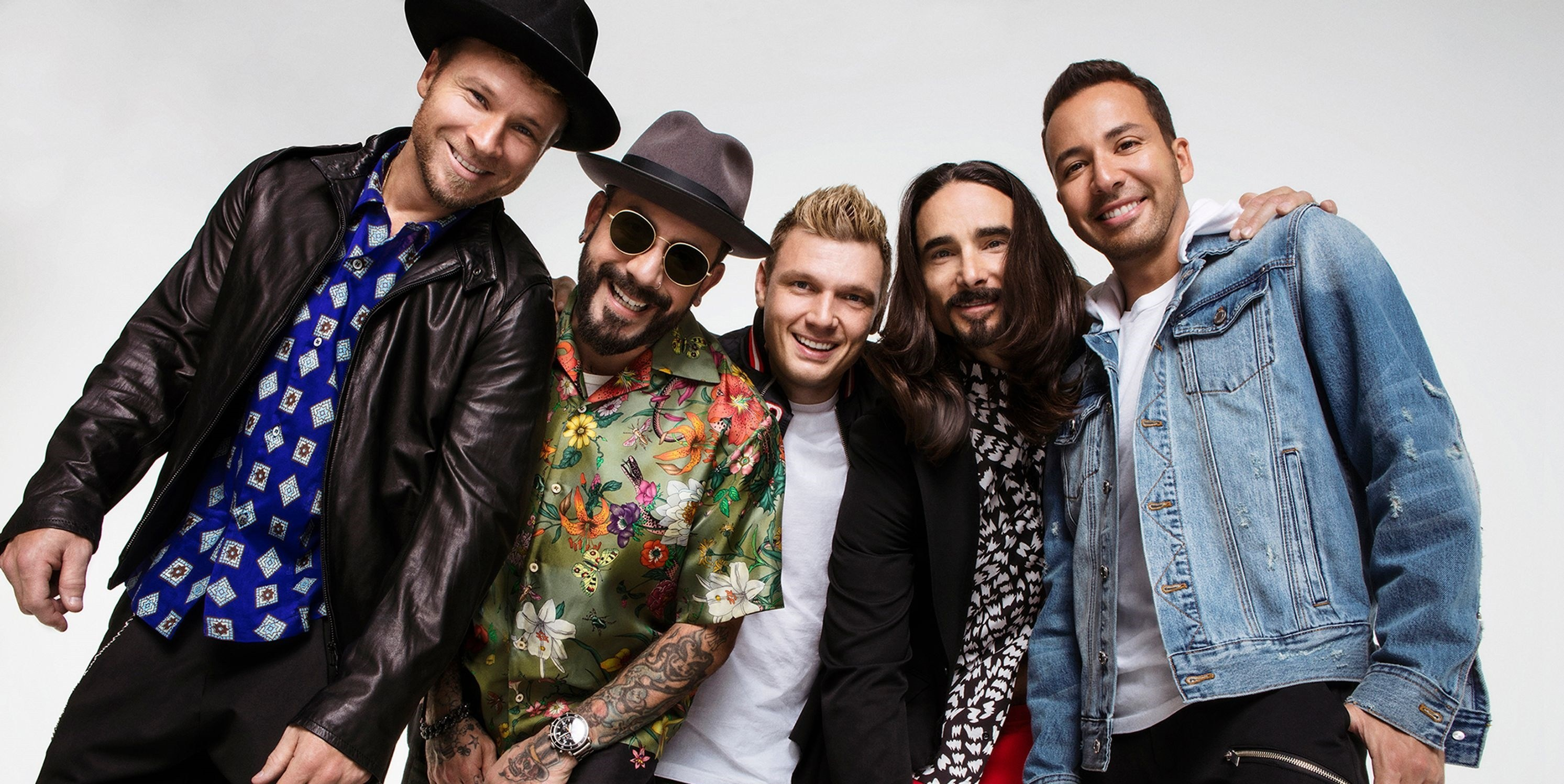"Boygroup Backstreet Boys para divulgar a turnê ""DNA World Tour"""