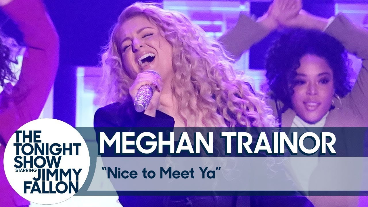 Meghan Trainor no The Tonight Show