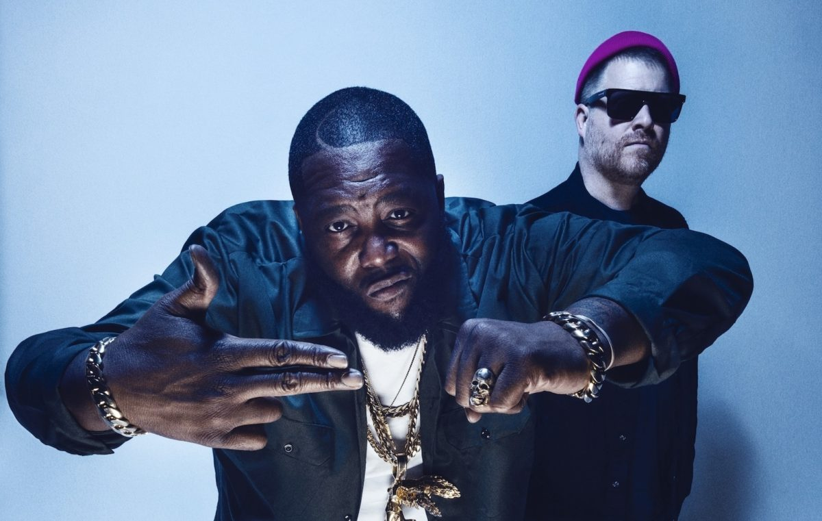 O Run The Jewels, formado por Killer Mike (à esquerda) e El-P (à direita)