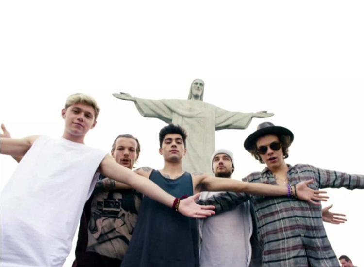 Banda One Direction no Cristo Redentor
