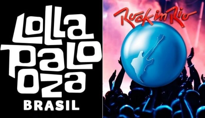 imagens dos símbolos do lollapalooza e do rock in rio